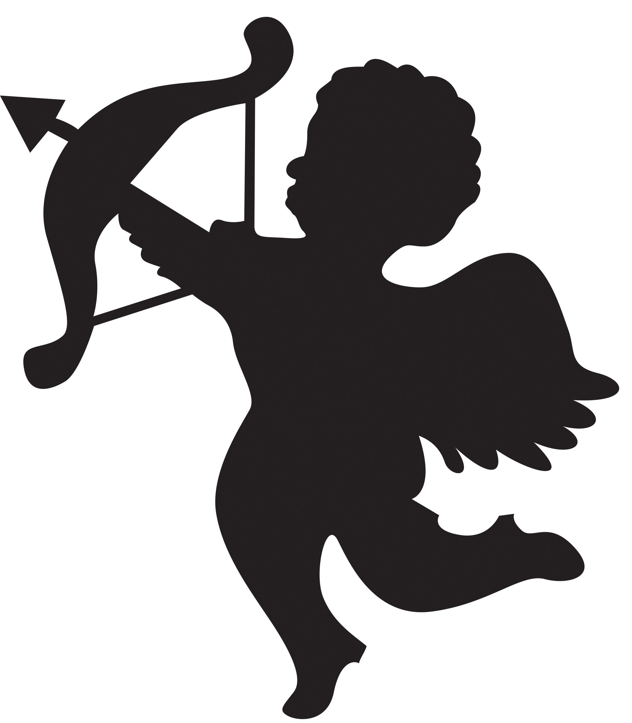Pic of cupid clipart jpg royalty free stock Cupid clipart black and white 4 » Clipart Station jpg royalty free stock