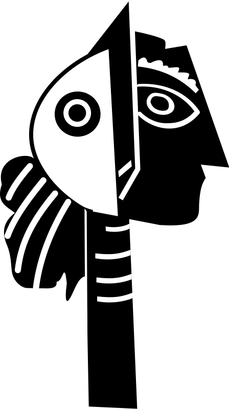 Picasso clipart graphic black and white library Free Clipart: Picasso sculpture | dominiquechappard graphic black and white library