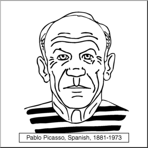 Picasso clipart picture royalty free download Clip Art: Artists: Pablo Picasso B&W I abcteach.com | abcteach picture royalty free download