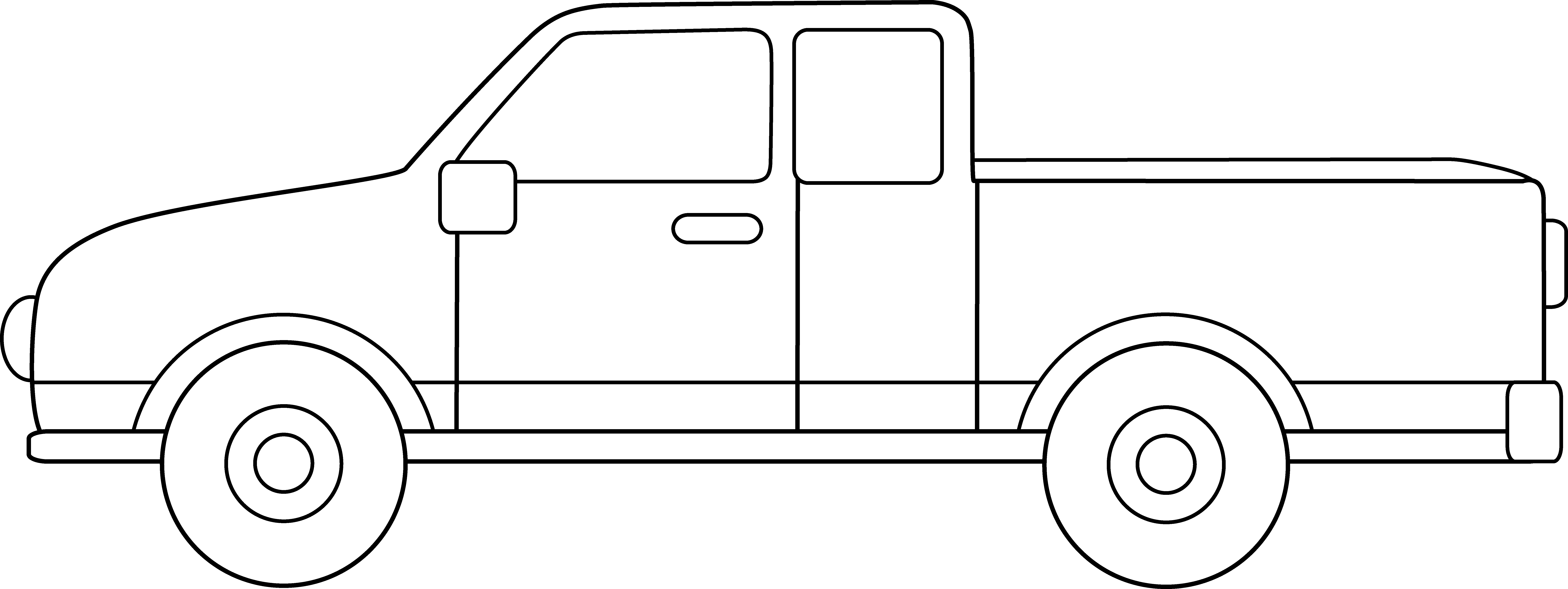 Pick up house clipart picture transparent 28+ Collection of Pickup Truck Clipart Outline | High quality, free ... picture transparent