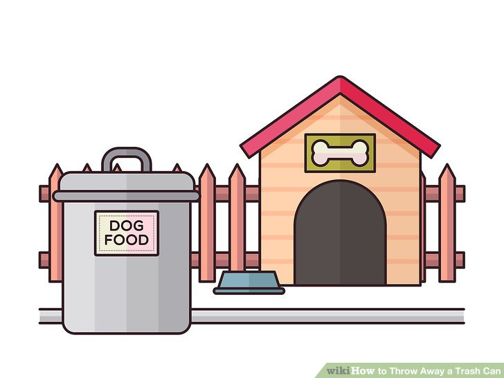 Pick up trash out of yard clipart clip download 3 Ways to Throw Away a Trash Can - wikiHow clip download