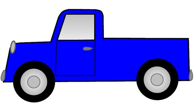 Pick up truck clipart picture black and white library Pickup truck clipart outline 6 » Clipart Portal picture black and white library