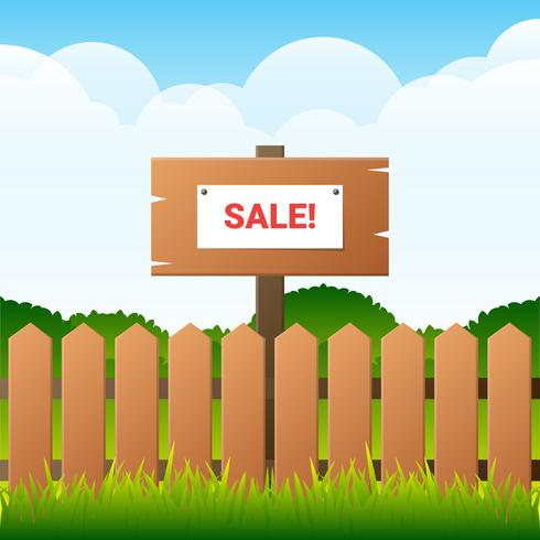 Picket fence with yard sale on it clipart banner freeuse stock Garage Sale Background Illustration - Download Free Vectors ... banner freeuse stock