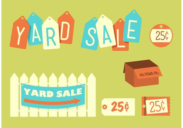 Picket fence with yard sale on it clipart clipart download Retro Yard Sale - Download Free Vectors, Clipart Graphics ... clipart download