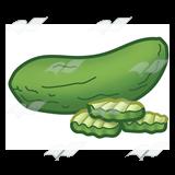 Pickle slice clipart jpg transparent Pickle, with three slices jpg transparent
