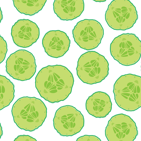 Pickle slice clipart jpg free stock pickle-slices-on-white wallpaper - lilcubby - Spoonflower jpg free stock