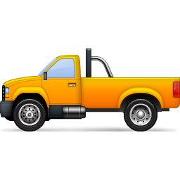 Pickup icon clipart picture royalty free Yellow Pickup Truck Icon, PNG ClipArt Image | IconBug.com picture royalty free