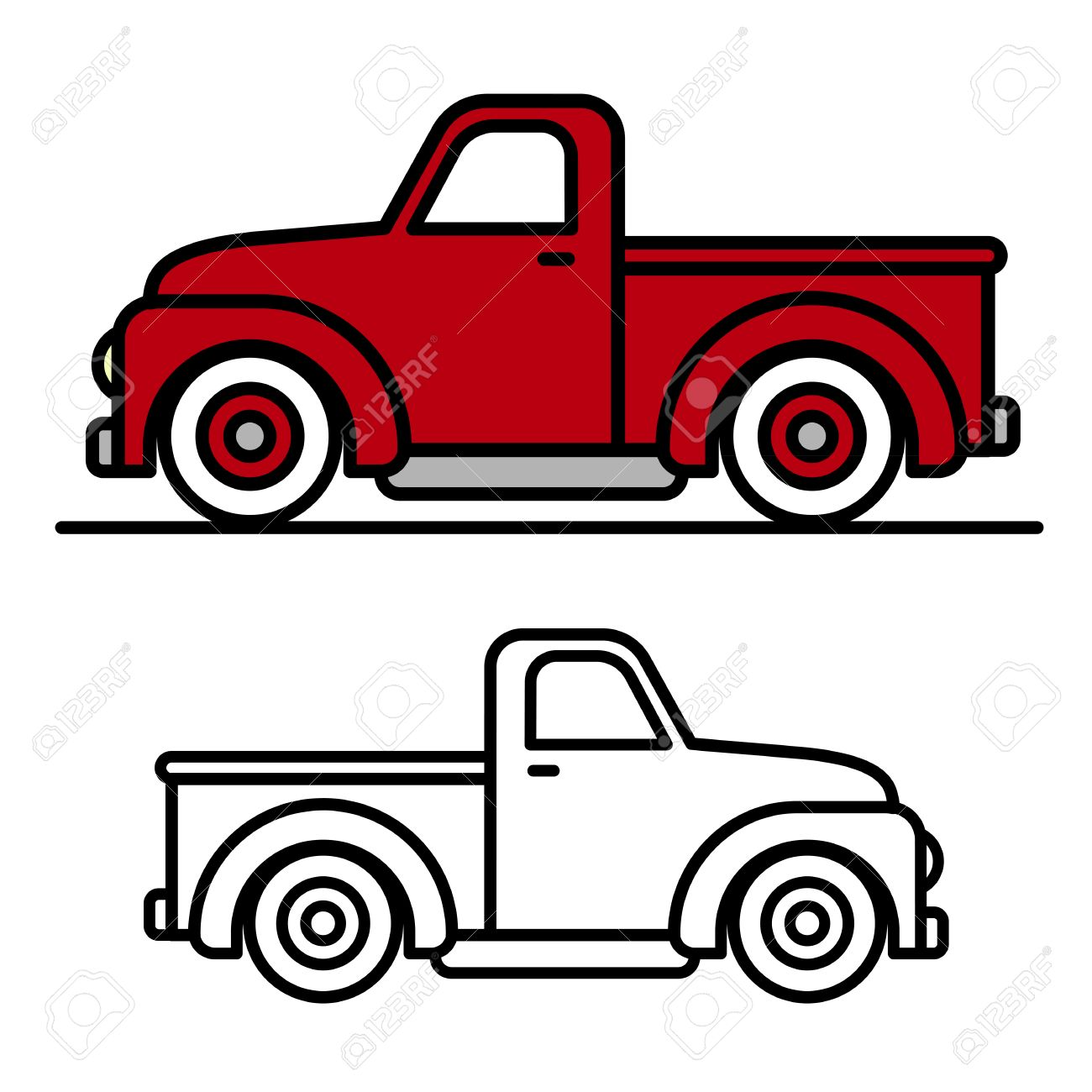 Pickup truck clipart jpg library download Best Cartoon Pickup Truck Clipart Rumors jpg library download