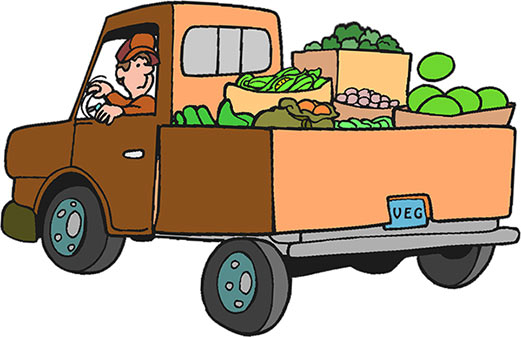 Pickup truck loaded with furniture free clipart jpg freeuse library Truck Clipart - Truck Gifs - Free jpg freeuse library