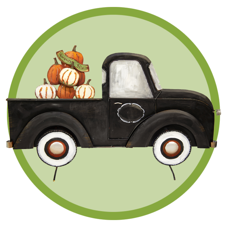 Pickup truck pumpkin clipart clipart transparent library The Round Top Collection - Wholesale Gifts for Home & Garden clipart transparent library