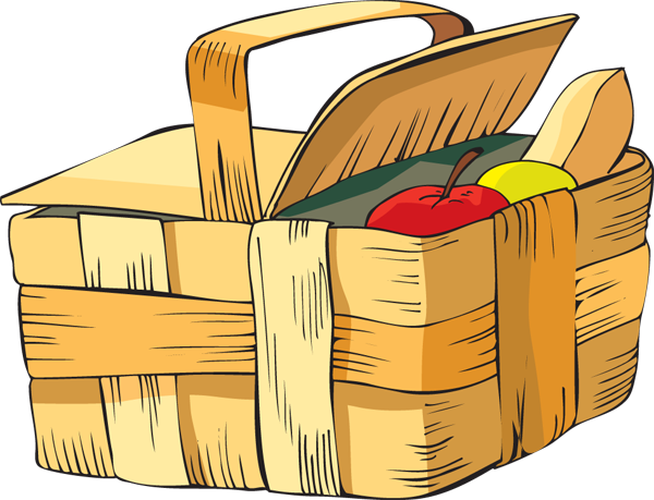 Picnic basket clipart free vector library stock Free Picture Of A Picnic Basket, Download Free Clip Art ... vector library stock