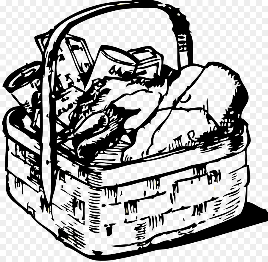 Picnic basket with wine clipart black and white clip freeuse download Thanksgiving Dinner png download - 999*976 - Free ... clip freeuse download