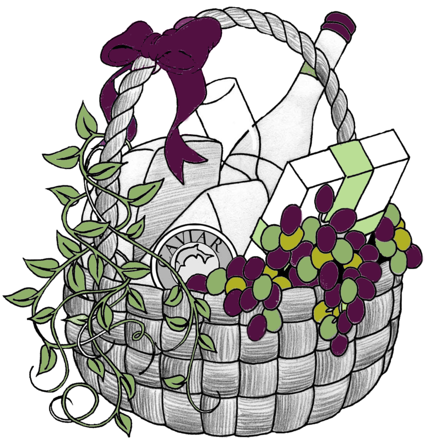 Picnic basket with wine clipart black and white graphic freeuse download Free Wine Basket Cliparts, Download Free Clip Art, Free Clip ... graphic freeuse download