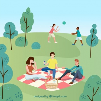 Picnic scene clipart jpg transparent download Picnic Vectors, Photos and PSD files | Free Download jpg transparent download