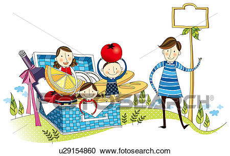 Picnic scene clipart image royalty free stock Picnic Scene Drawing | Free download best Picnic Scene ... image royalty free stock