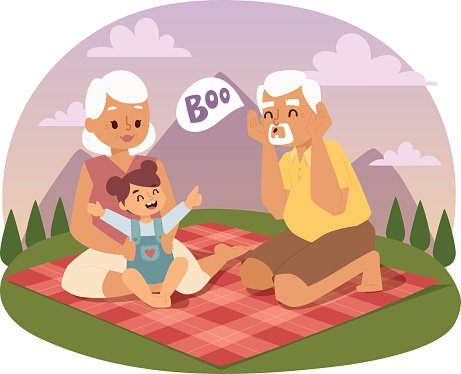 Picnicking clipart jpg library library Old People Family Picnicking Summer Vector premium clipart ... jpg library library