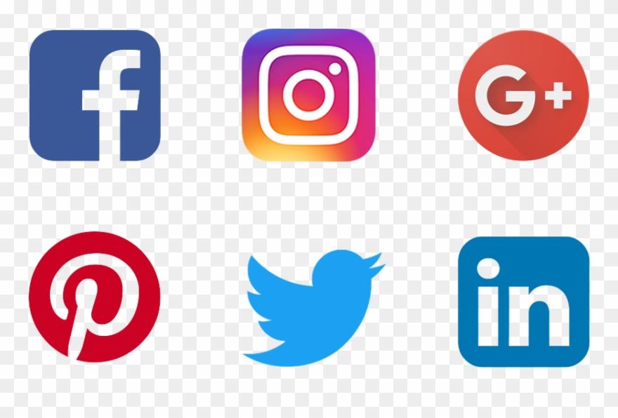 Picsart social clipart svg royalty free stock Social Media Clipart New Media - Social Share Buttons Png ... svg royalty free stock