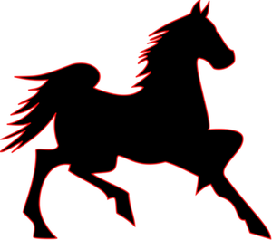 Pictograph horse clipart png black and white library 8347 horse riding silhouette clip art | Public domain vectors png black and white library