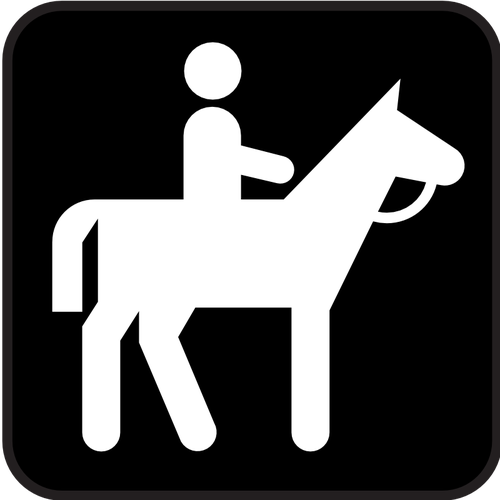 Pictograph horse clipart png royalty free Pictogram for a horse riding field only vector image ... png royalty free