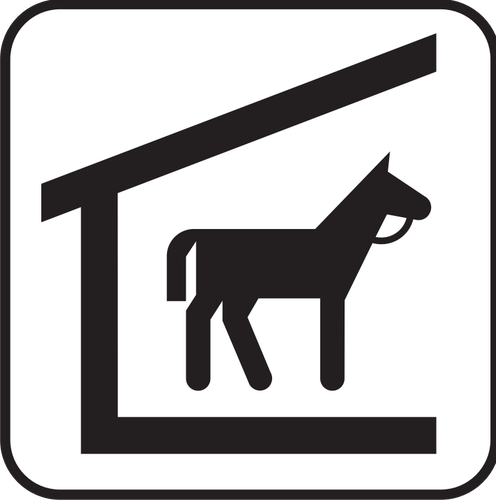 Pictograph horse clipart graphic download Horse stable symbol | Public domain vectors graphic download