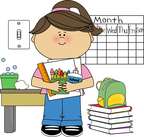 Girl at school clipart vector free library Classroom Job Clip Art - Classroom Job Images - Vector Clip Art vector free library
