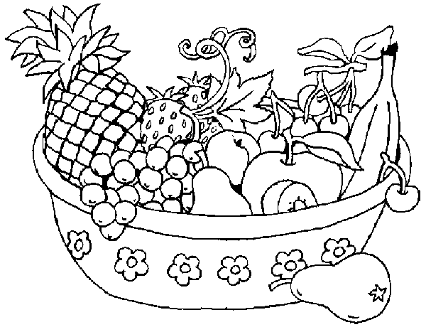 Picture clipart black and white clip art black and white library Vegetables black and white basket of fruits and vegetables ... clip art black and white library