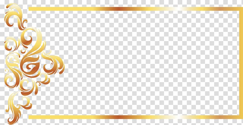 Picture frame clipart format svg library Yellow Recreation Pattern, Gold Line border European ... svg library