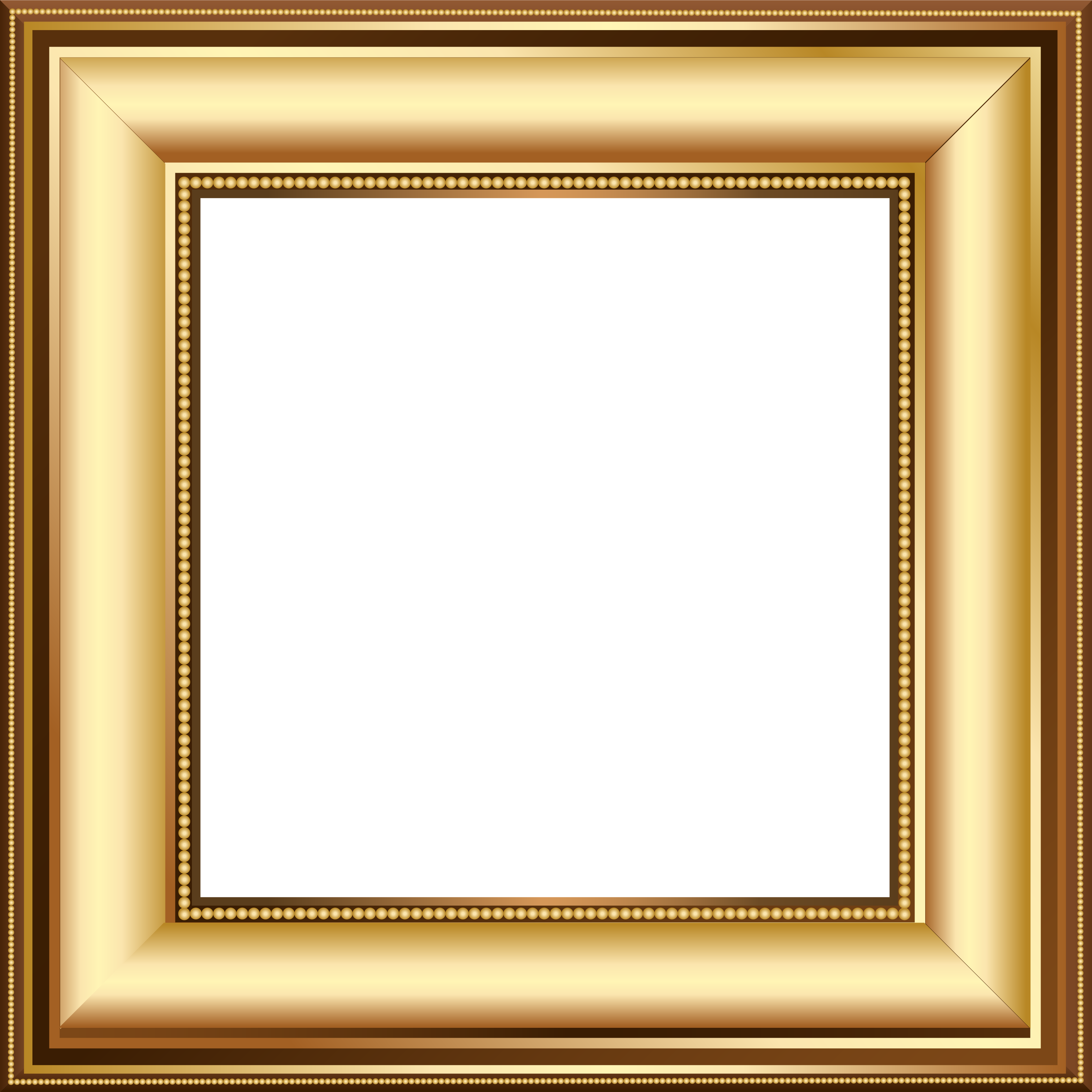 Picture frame clipart transparent background picture free library Gold and Brown Transparent Photo Frame | Κορνίζες | Frame ... picture free library