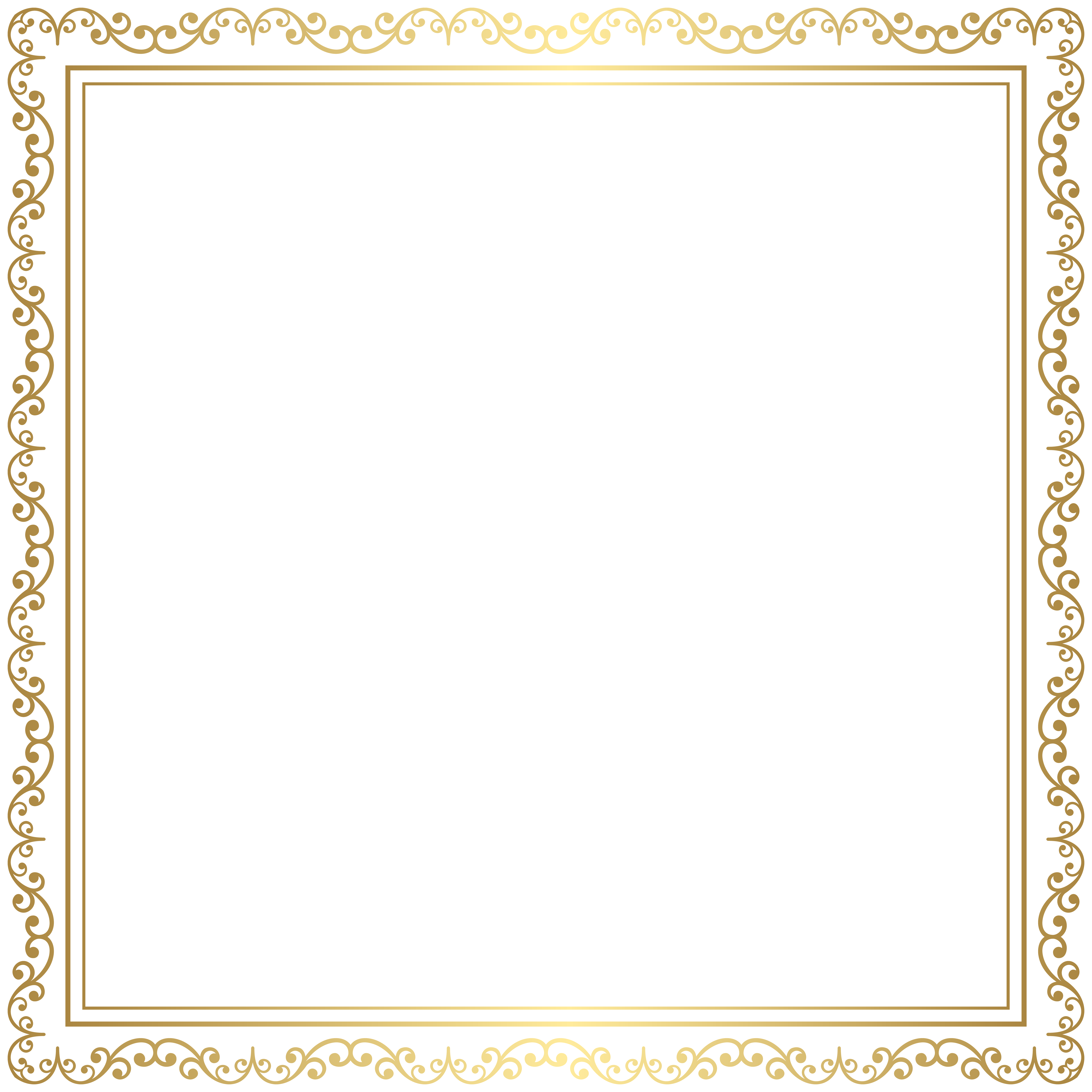 Picture frame clipart transparent royalty free Border Frame Gold Transparent PNG Clip Art Image | Gallery ... royalty free