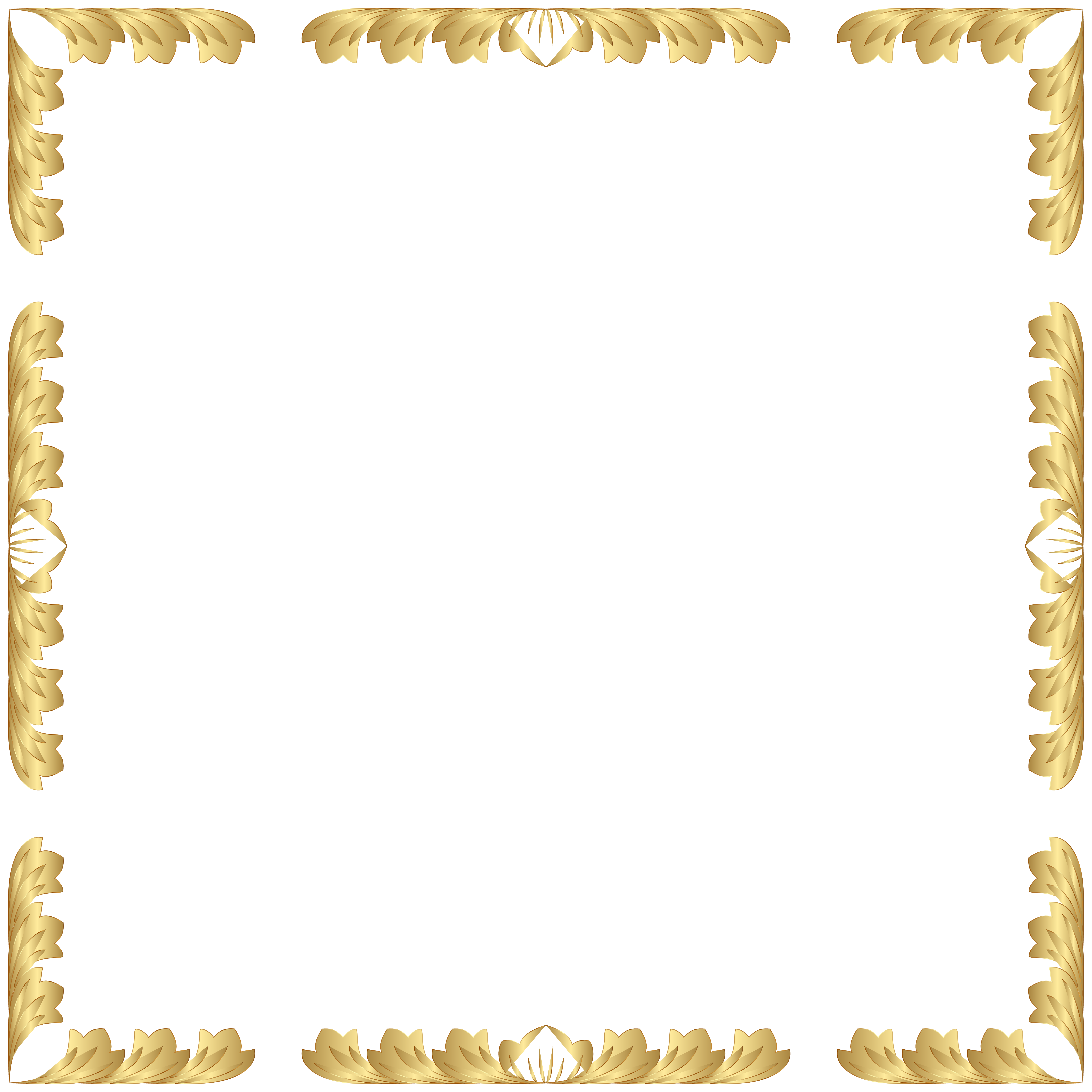 Picture frame clipart transparent picture transparent library Decorative Border Frame Transparent Clip Art PNG Image ... picture transparent library