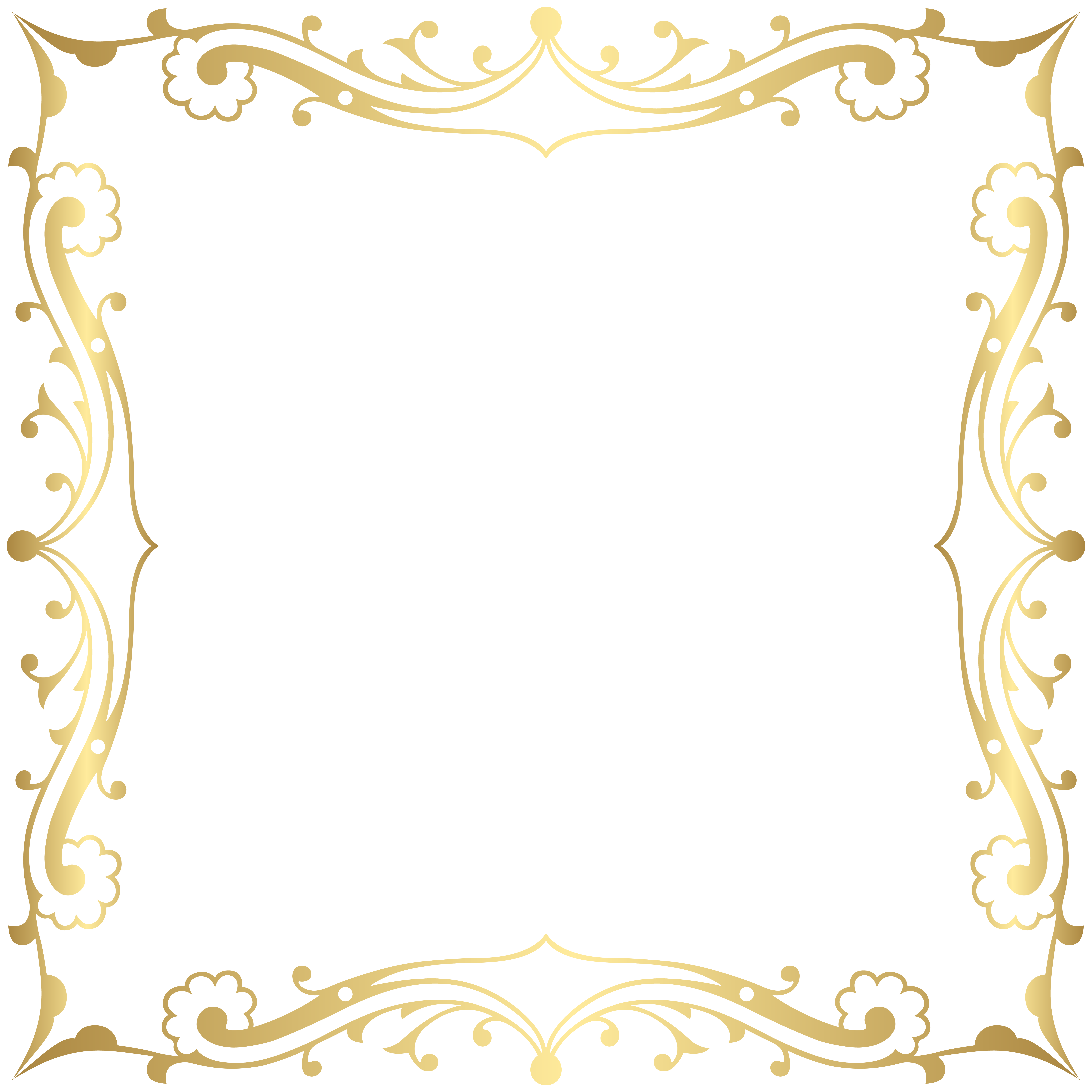 Picture frame clipart transparent picture royalty free library Decorative Border Frame Transparent Clip Art Image ... picture royalty free library