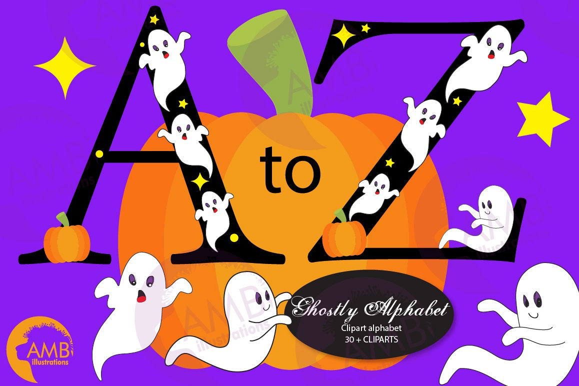 Picture images clipart clipart library Ghost alphabet, Halloween letters, alphabet clipart AMB-2643 clipart library