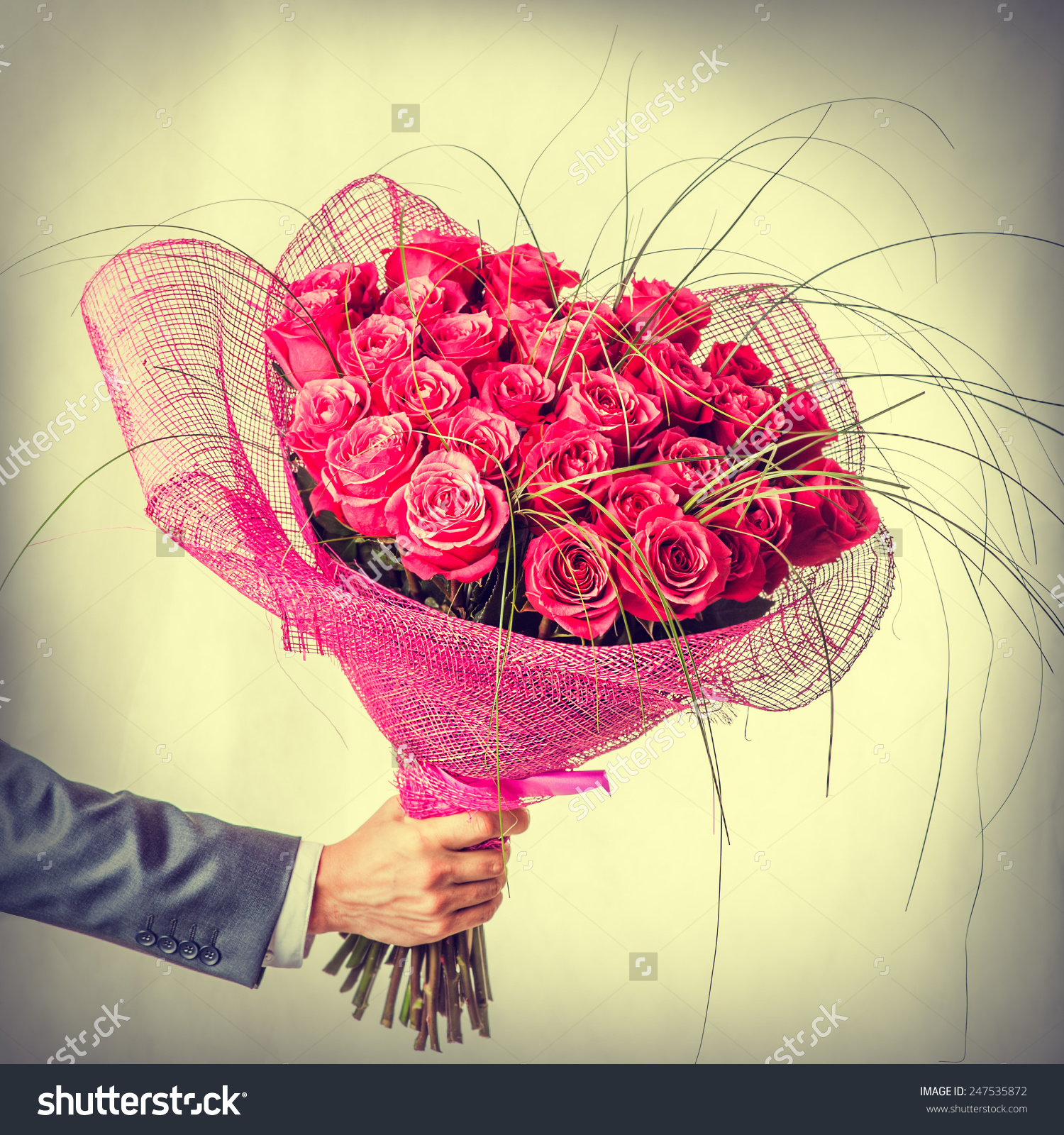Picture of a big bunch of flowers jpg free library Big Beautiful Bunch Flowers Red Roses Stock Photo 247535872 ... jpg free library