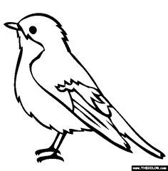 Picture of a bird clipart black and white image black and white stock Clipart birds black and white 4 » Clipart Portal image black and white stock