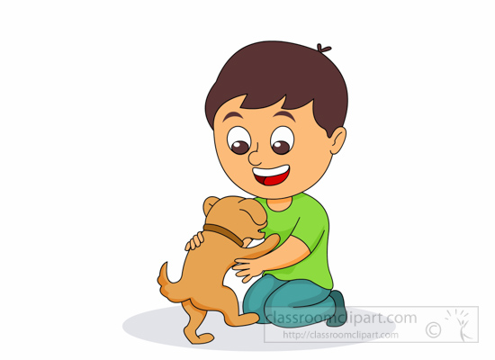 Picture of a boy hugging a dog clipart banner black and white library Girl Hugging Dog Clipart | Free download best Girl Hugging ... banner black and white library