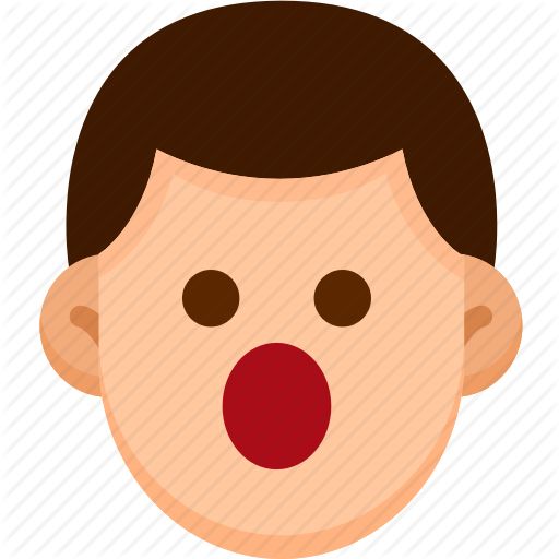 Picture of a face with mouth open clipart image freeuse stock \'Male Emoticons Vol.1\' by AomAm image freeuse stock