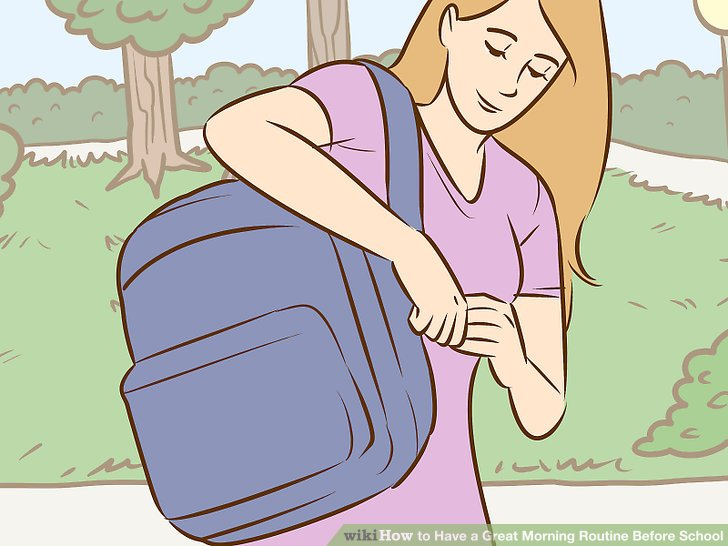Picture of a girl preparing for school clipart svg transparent stock How to Have a Great Morning Routine Before School: 10 Steps svg transparent stock