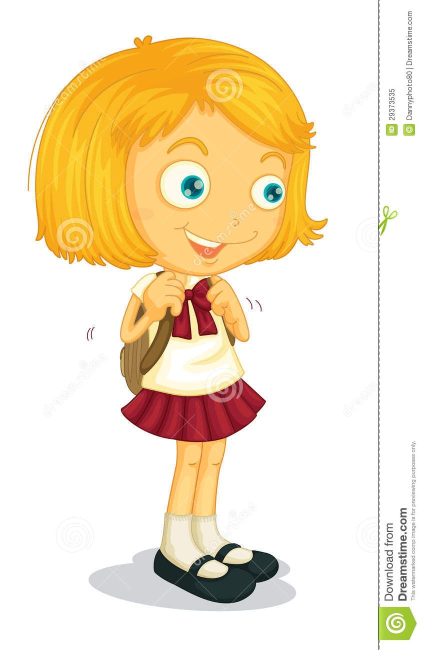 Picture of a girl preparing for school clipart clip art library stock Girl Preparing For School Clipart clip art library stock
