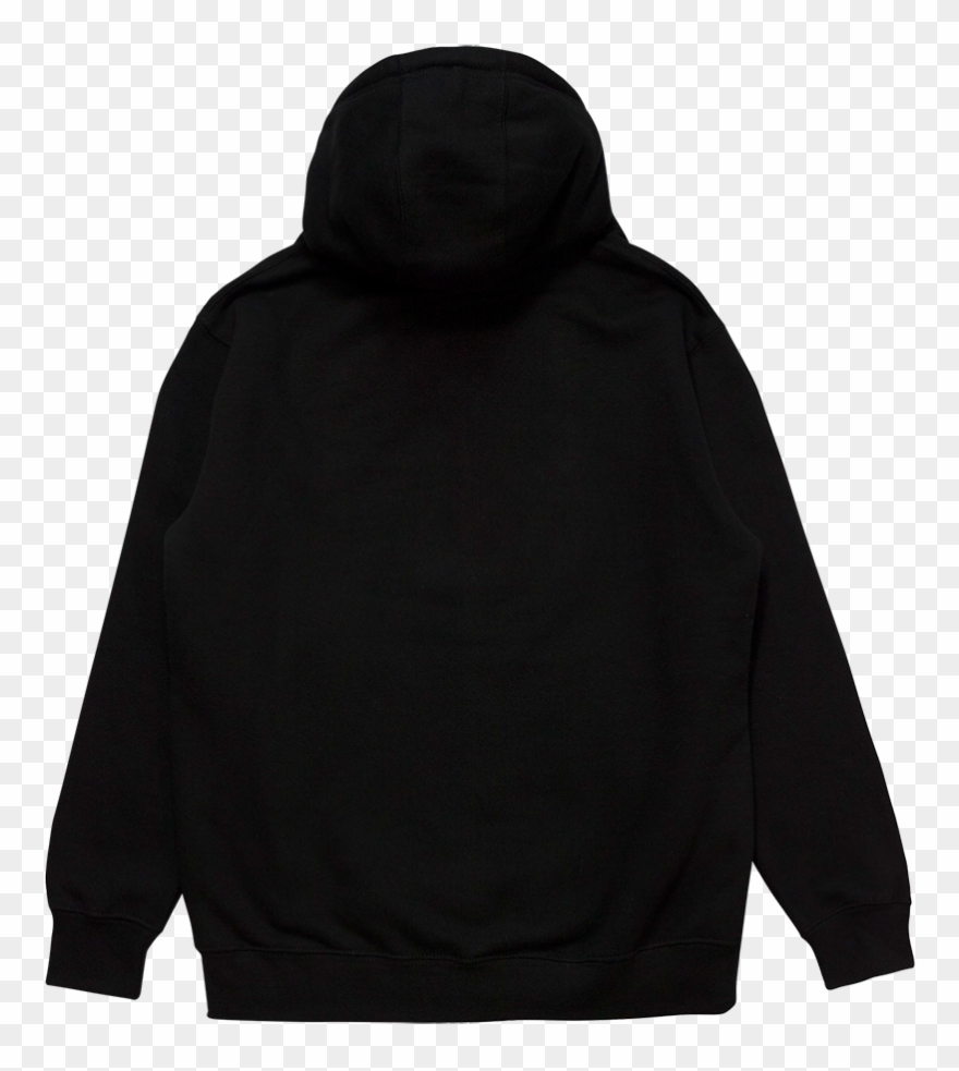 Picture of a hoodie from the back clipart png black and white Crest Patch Black Pullover Hoodie - Hoodie Clipart (#4053542 ... png black and white