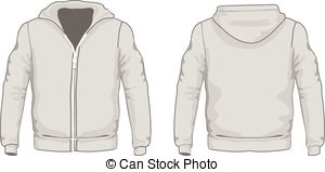 Picture of a hoodie from the back clipart graphic transparent stock Men\'s Hoodie Shirts Template. Front And Back Views. Vector ... graphic transparent stock