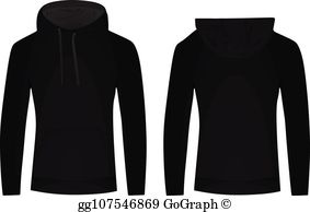 Picture of a hoodie from the back clipart picture black and white Hoodie Clip Art - Royalty Free - GoGraph picture black and white