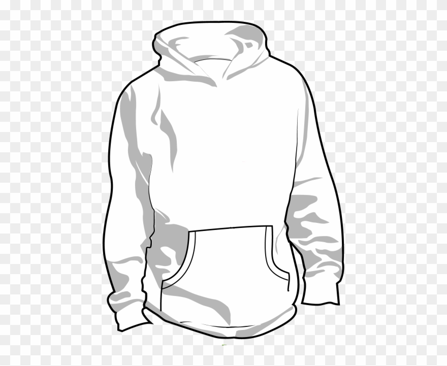 Picture of a hoodie from the back clipart clip art transparent download With Printed Wording To - Back Of Hoodie Drawing Clipart ... clip art transparent download