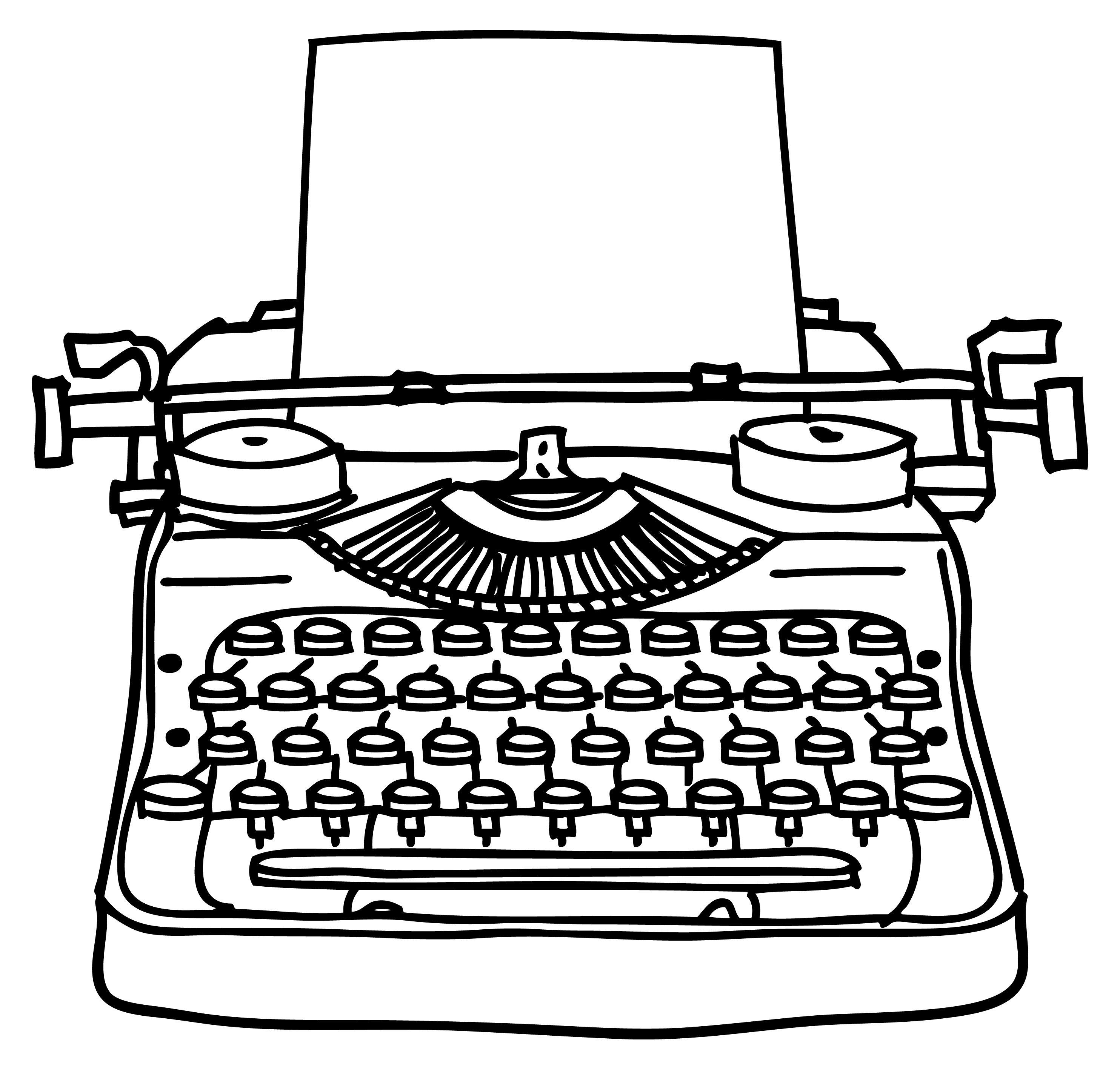 Typewriet clipart clipart download old typewriter clip art - Google Search | Typewriter & keys ... clipart download