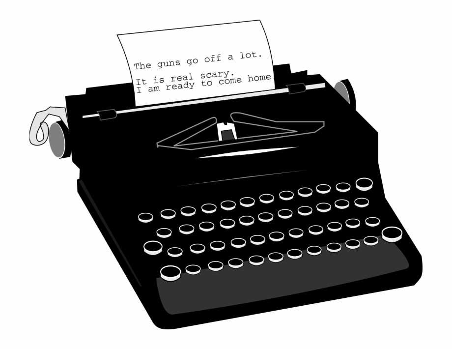 Free clipart black and white typewriter with paper banner transparent download Typewriter Png High Quality Image - Typewriter Clipart Black ... banner transparent download