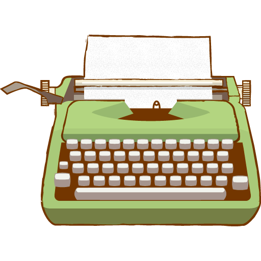 Picture of a typewriter clipart graphic stock Vintage Typewriter Green Clipart transparent PNG - StickPNG graphic stock