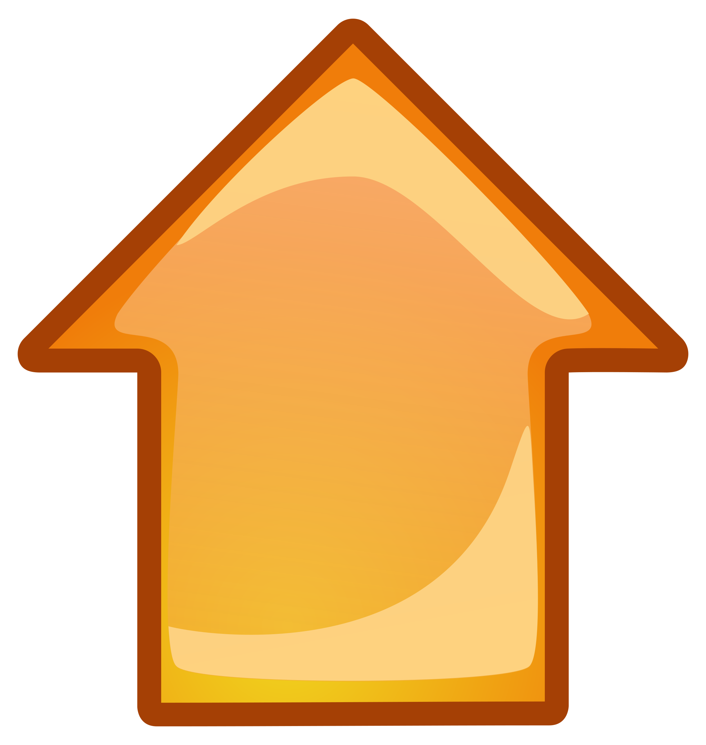 Picture of a up arrow clipart png free library Clipart - arrow-orange-up png free library