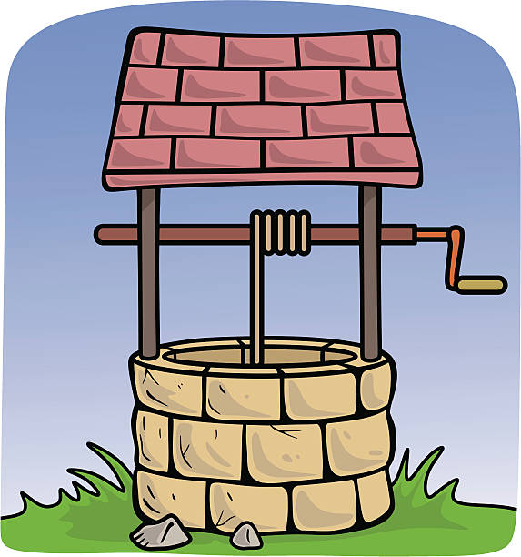 Water well pulley clipart