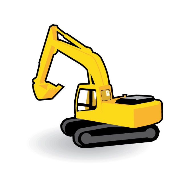 Picture of a yellow bulldozer free outlines clipart clip art freeuse download EXCAVATOR-VECTOR-GRAPHICS.eps | Construction Birthday Party ... clip art freeuse download