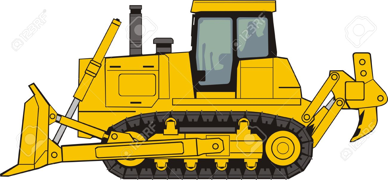 Picture of a yellow bulldozer free outlines clipart clip art free Caterpillar Bulldozer Clipart clip art free