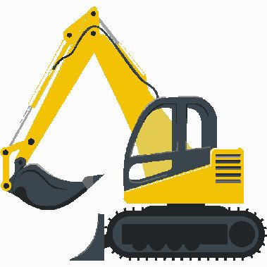 Picture of a yellow bulldozer free outlines clipart graphic library download Construction excavator digital embroidery design, Excavator ... graphic library download